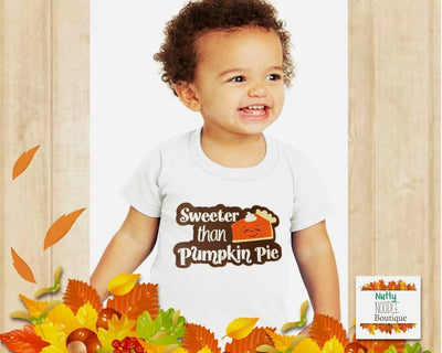 Children's T-Shirt - Sweeter Than Pumpkin Pie | Fall/Autumn Theme