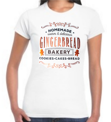 Christmas Women's T-Shirt: Homemade Gingerbread Bakery