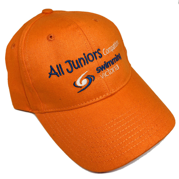 "Swimming Victoria ""All Juniors"" embroidered cap"