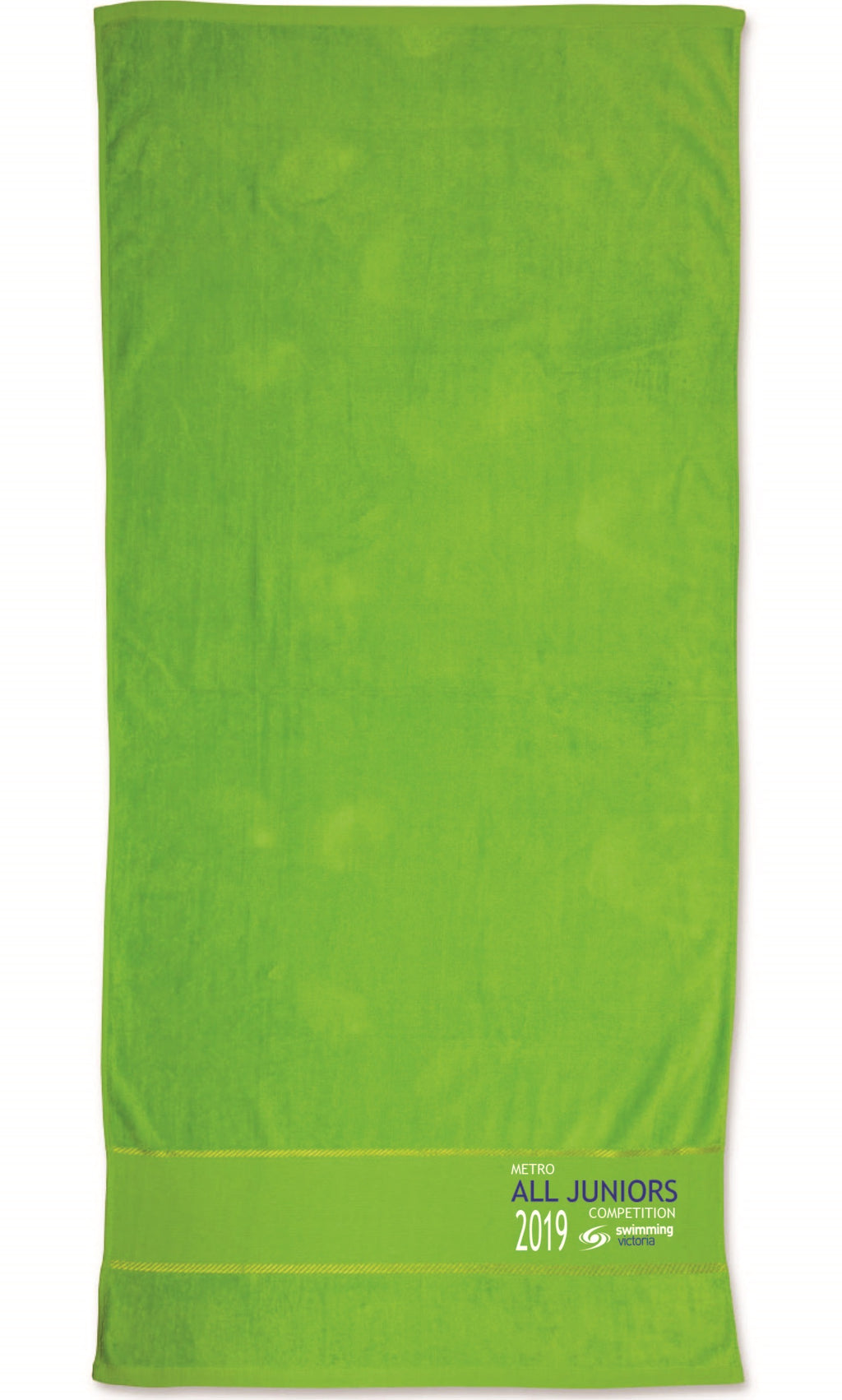 2019 All Juniors Competition Embroidered Towel - Kelly Green