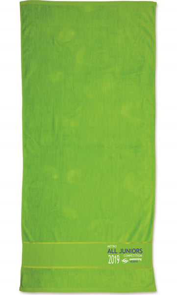 Metro All Juniors Competition Embroidered Towel - Kelly Green