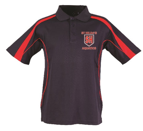 St Hilda's Aquatics Team Polo Top - available at the Aquatics Office