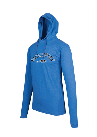 Long Sleeve Hooded Top- Backstroke est 1900 Blue Marle