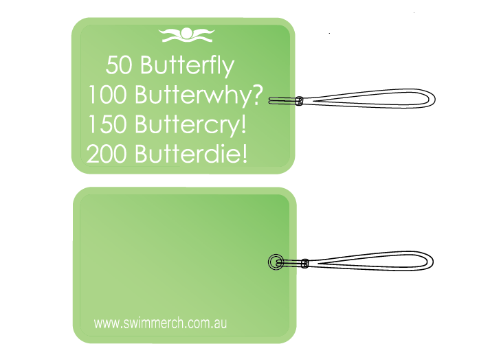 "Bag Tag - ""Butterwhy?"""