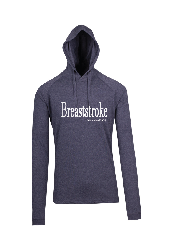 Long Sleeve Hooded Top -Breaststroke est 1904 Navy Marle