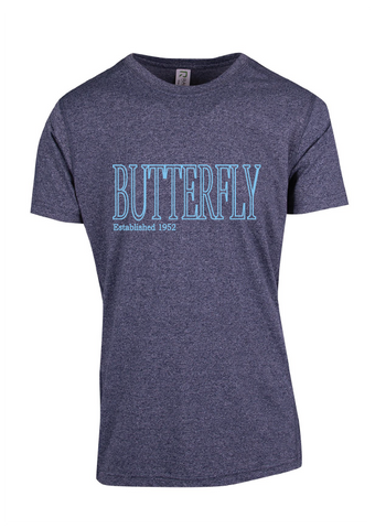 Tee -Butterfly est 1952 Charcoal Marle