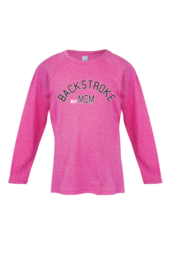 Long Sleeve Top- Backstroke est 1900 Pink Marle