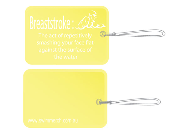 Bag Tag - Breaststroke - NEW