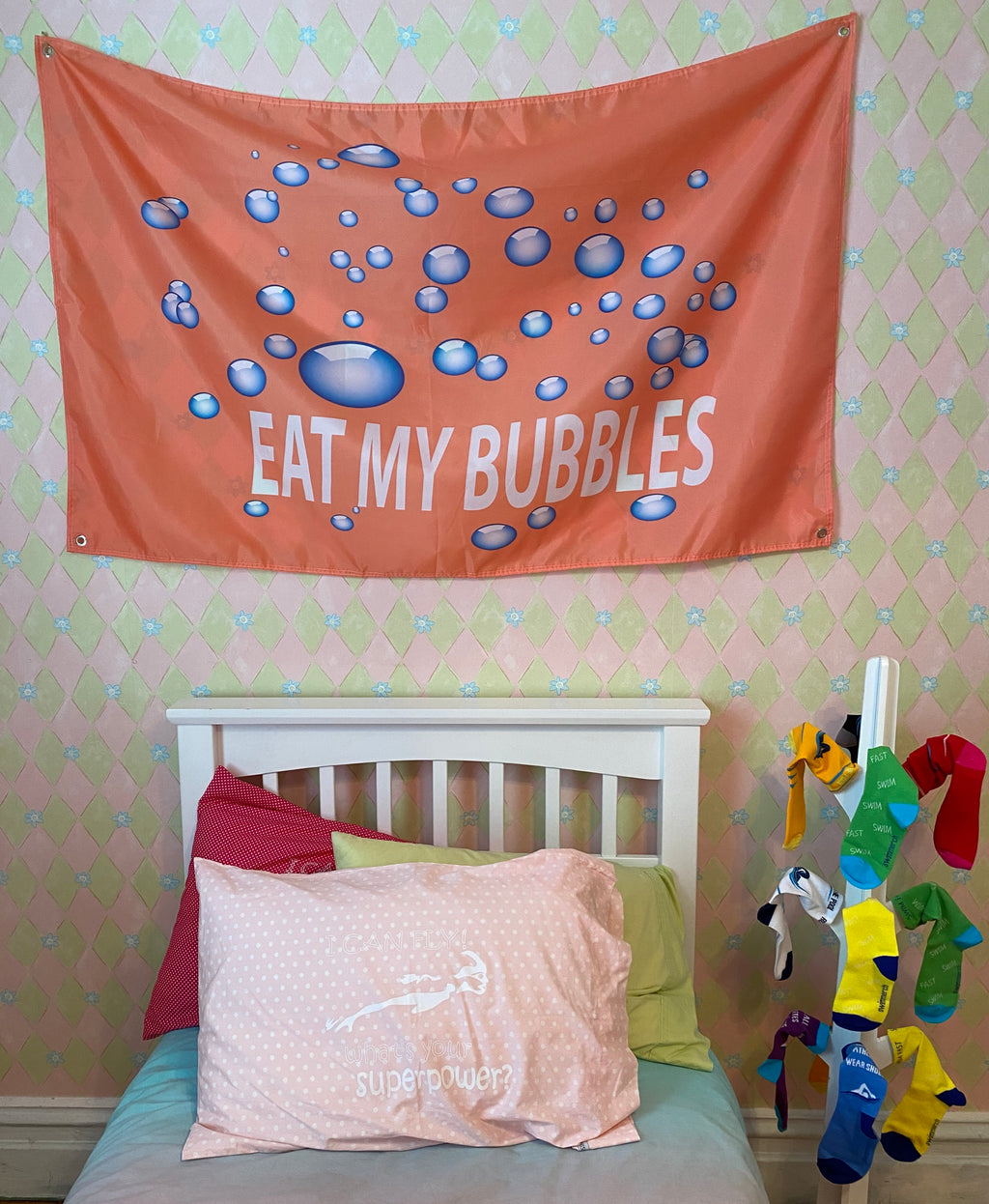 Eat My Bubbles - Room Flag
