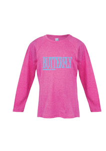 Long Sleeve - Butterfly est 1952 Pink Marle