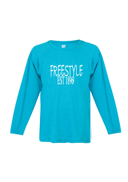 Long Sleeve - Freestyle est1896 Aqua Marle