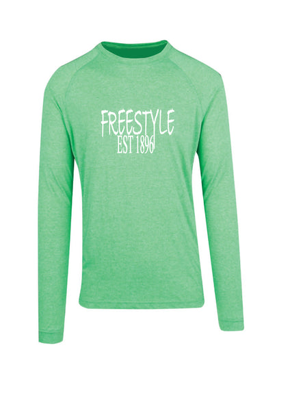 Long Sleeve - Freestyle est1896 Green Marle