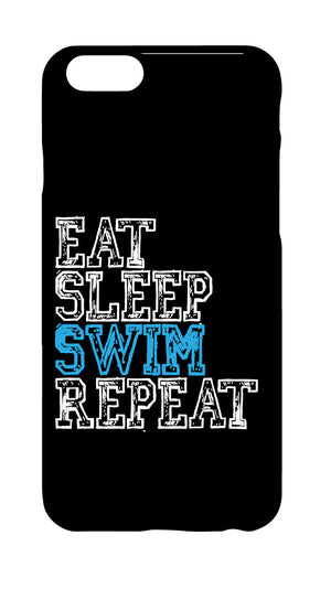 "iPhone Cover - ""Eat Sleep Swim Repeat"""