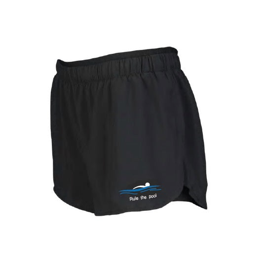 Swimmerch Shorts - Rule the Pool - Womens - Black