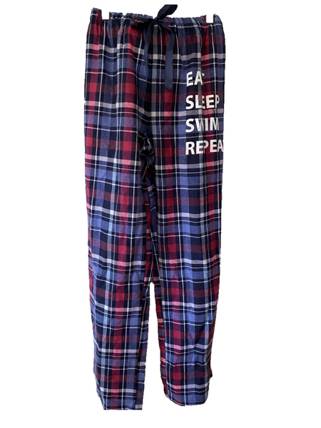 Sleep Pant F'ette with elastic waist Blue/Cranberry