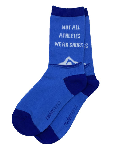 Socks - Not all athletes wear shoes - Blue/Royal