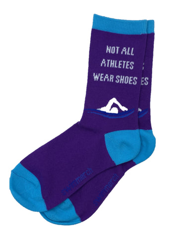 Socks - Not all athletes wear shoes - Purple/Aqua