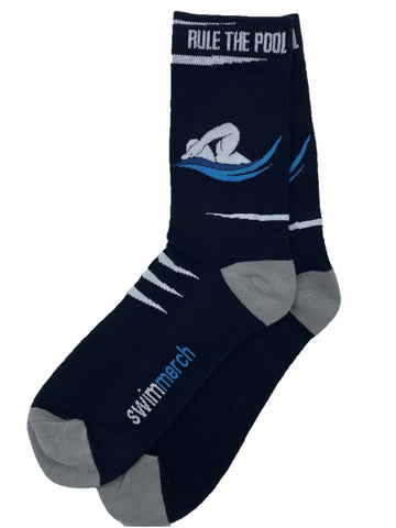 Socks - Rule the pool - Black/grey