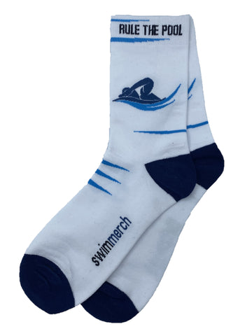 Socks - Rule the pool - White/Navy