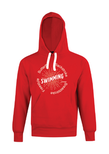 "Swimming Hoodie with print "" SWIMMING "" Red"