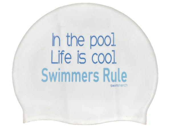 Silicone Swim Cap - Swim life is cool