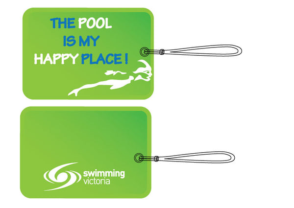 "Bag Tag - ""The Pool Is My Happy Place"""