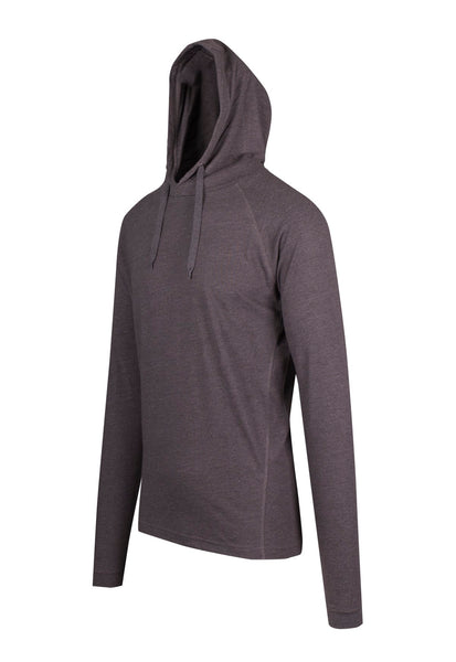 Sleepwear Long Sleeve Hooded Top Charcoal Marle - Eat Sleep Swim Repeat