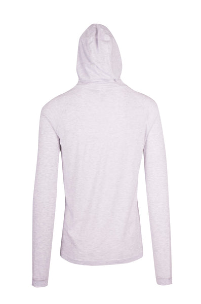 Long Sleeve Hooded Top- Butterfly est 1952 White  Marle