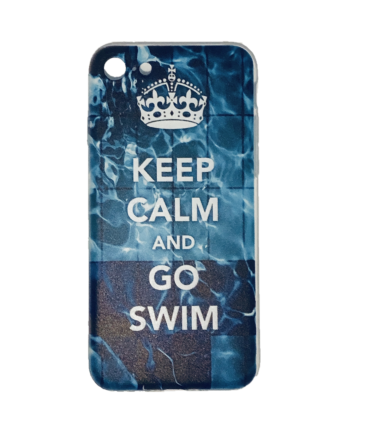 IPhone Cover - Keep Calm and Go Swim