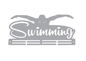 Stainless Steel Medal Display Hanger - Flyer SWIMMING
