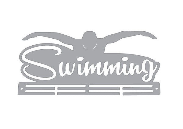 Stainless Steel Medal Display Hanger - Flying Swimmer