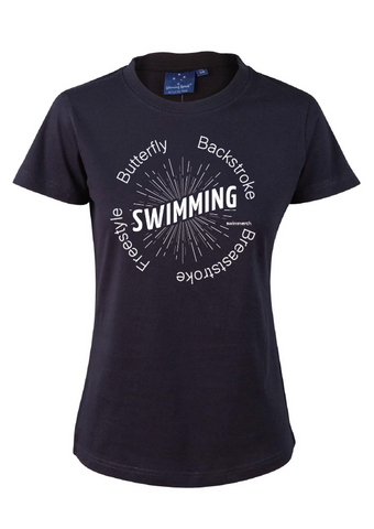 "Swimmerch Tee - ""Swimming"" Navy"
