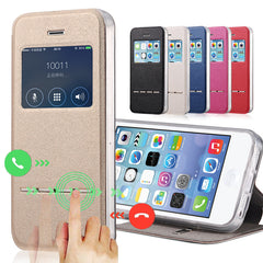 Luxury Front View Window Case For iPhone 5/ 5SE