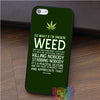 Snoop Dogg Weed Quote iPhone Case