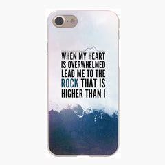 Christian Bible Verse Hard Transparent Case for iPhone