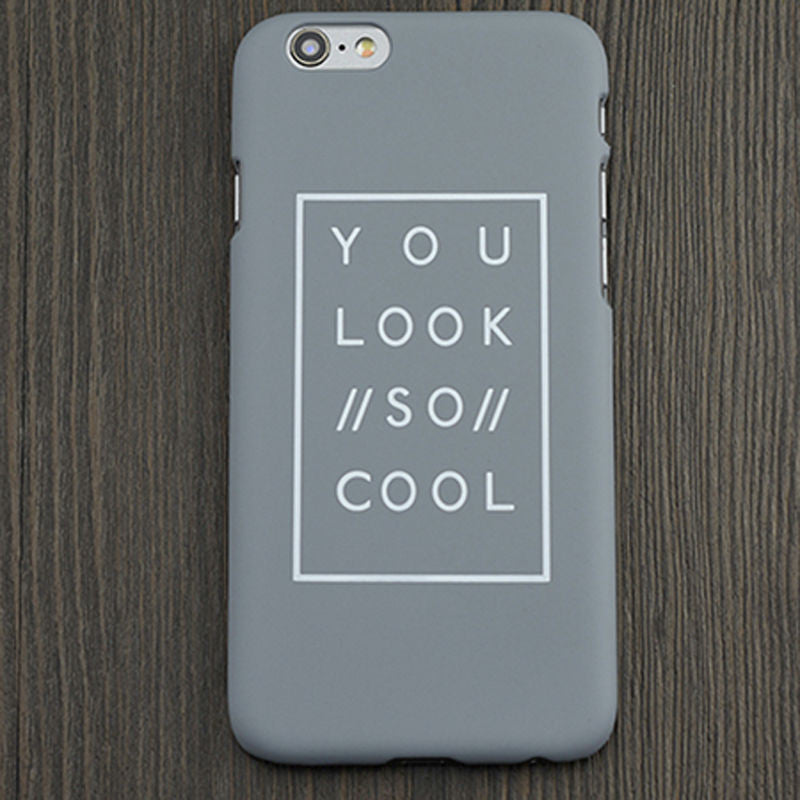 """You Look So Cool"" Soft Rubber Case For iPhone 