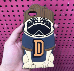 Cute Cartoon Pug With Full Outline For iPhone6/ 6s