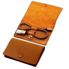 Leather Pouch Keychain Style Lightning Cable | CooliPhoneAccessories