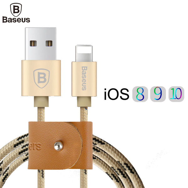 USB Cable Nylon Braided Fast Data Sync Charging Lightning Cable For iPhone