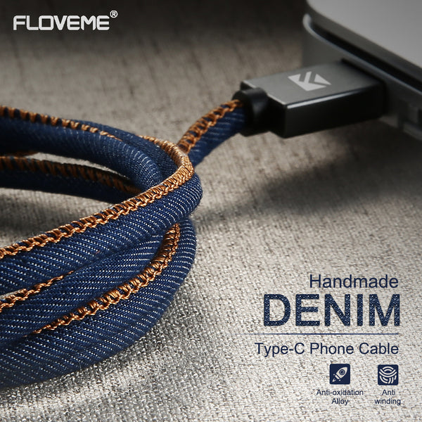 Denim Micro USB Charging Cable