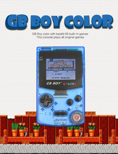 GB Boy Classic Color -  Backlit 66 Built-in Games