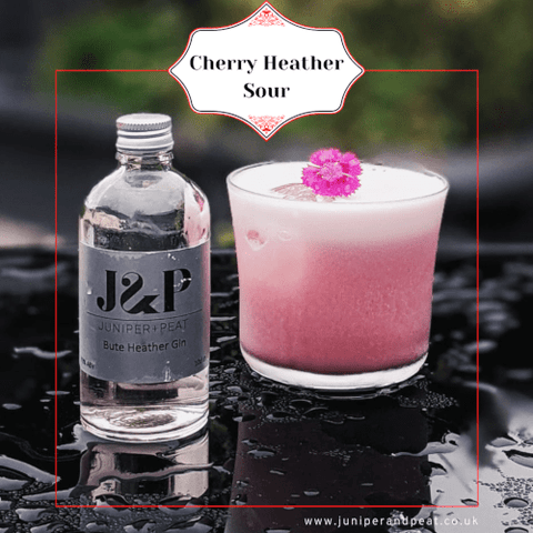 Cherry Heather Sour from our Monthly Gin Club