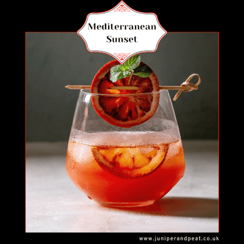 Mediterranean Sunset from our monthly gin club