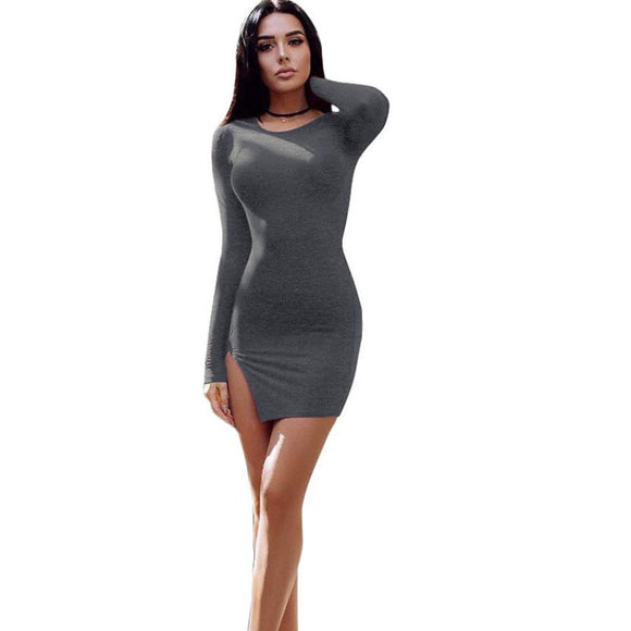 Long Sleeve Bandage Party Mini Dress