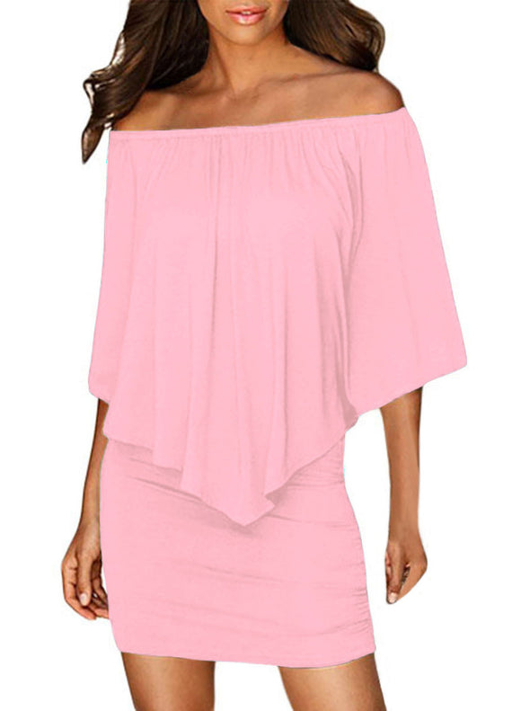 Multiple Layered Pink Mini Dress