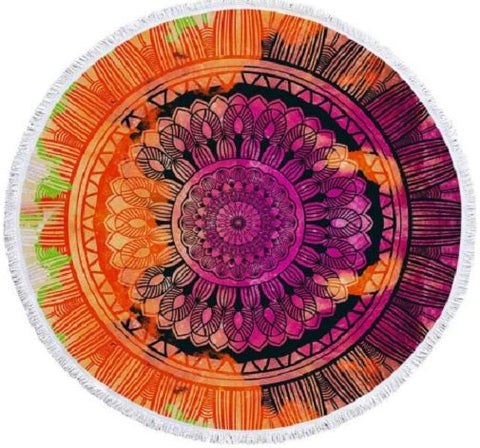 Colorful Bohemian Round Towel