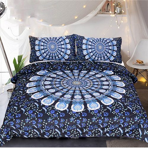 MANDALA BLUEISH FLOWER DUVET COVERS