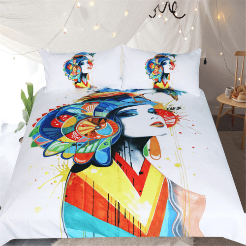 Adults Watercolor Duvet Cover Set Bedding Cover Set BeddingOutlet Single