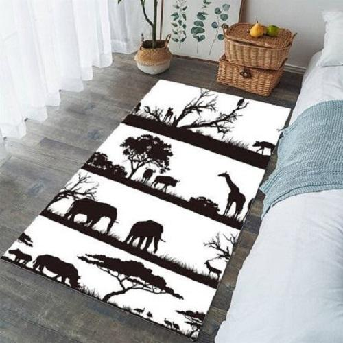 African Animals Living Room Carpet Bedroom Carpet BeddingOutlet 91x152cm