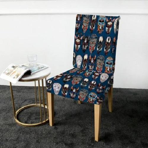 African Ethnic Masks Chair Cover Chair Cover BeddingOutlet